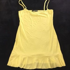 Mini yellow dress